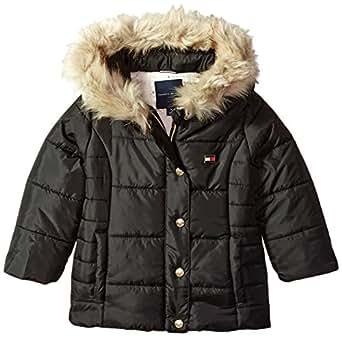 044630ab1b17 Amazon.com  Tommy Hilfiger Girls  Toddler Peacoat Puffer Jacket ...