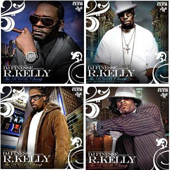4 R. Kelly Mixtapes CD DJ Finesse Best of 1-4 The Champ usher justin double up