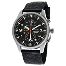 Seiko SNDA57 Mens Criteria Chronograph Black Dial Nylon Watch