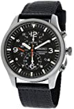 SEIKO SNDA57P1 - Reloj de caballero de cuarzo, correa de textil color negro (con cronómetro)