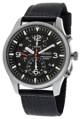 Seiko Men's SNDA57 Black Dial Watch, Watch Central