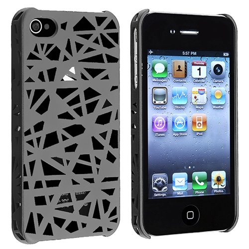 Leegoal(TM) Compatible with Apple iPhone 4/4S Clip-on Case , Smoke Bird Nest Rear