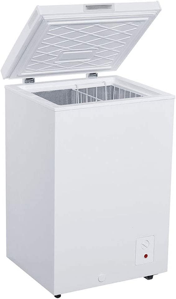 Avanti CF350M0W Slim 20x22x34 Inch 3.5 Cubic Foot Capacity Stand Alone Upright Ice Chest Deep Freezer with Defrost and Removable Storage Basket, White