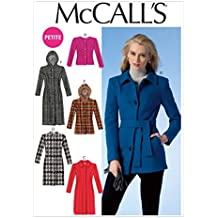 McCall Pattern Company M7058 Misses'/Miss Petite Jackets, Coats and Belt Sewing Template, E5 (14-16-18-20-22)