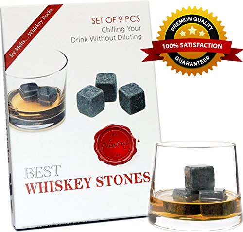 Whiskey Stones – Premium Chilling Rocks for Whiskey Scotch or Other Fine Drinks