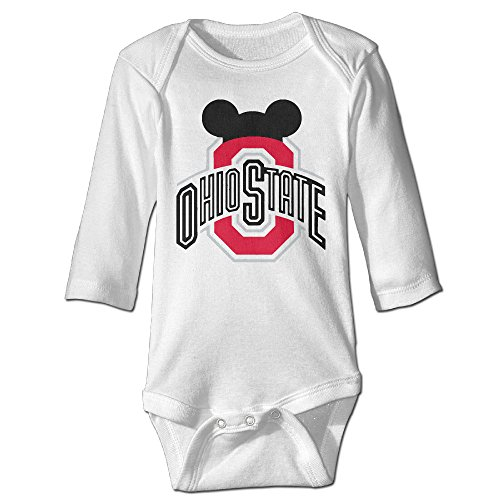 Sons Of Anarchy Costume Baby (NINJOE Newborn Babys Ohio State Football Long Sleeve Baby Climbing Clothes)