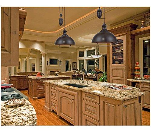 amazoncom elk 650711led farmhouse large cone pendant 1 light led oiled bronze home u0026 kitchen