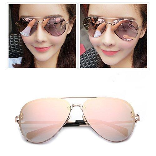 Rosado Personalidad de 5cm Mujer 5 Sol 5 Ojos Gafas Redonda 14 Gafas Gris Gafas Personalidad Sol Cara de WWF XUqS0RT