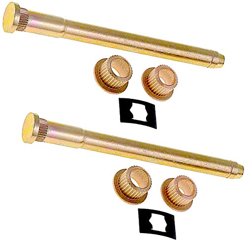 (APDTY 814376 Door Hinge Pin & Bushing Set Fits Front Rear Left or Right 1994-2005 Chevrolet Blazer S10 GMC Jimmy Sonoma Olds Bravada (Includes 2 Pins 4 Bushings & 2 Retaining Clips, Replaces 93356553))