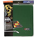BCW Supplies 12-Pocket Z-Folio LX Trading Card Albums, Green