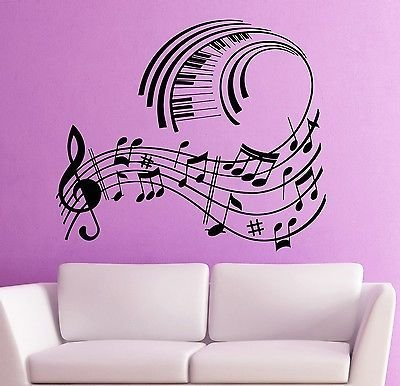 Wall Stickers Vinyl Decal Music Notes Musical Room Decor VS1783