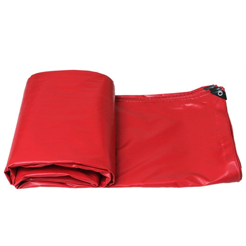 タープ テント タパリン防水布タフカバー大型防水シート日保護480g /平方メートルPVC赤 (Color : Red, Size : 5*7m) 5*7m Red B07KS8B3MT