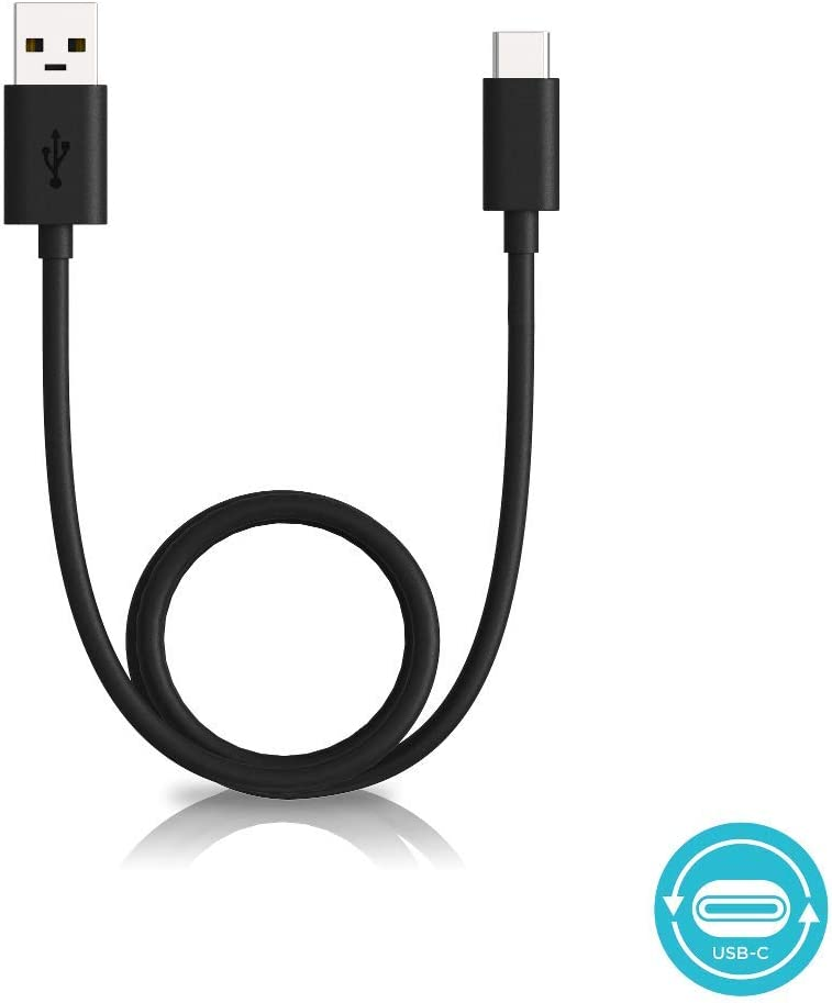 Motorola Essentials 6.6 Foot/ 2 Meter USB-A 2.0 to USB-C (Type C) Data/Charging Cable for Moto X4, Z, Z2, Z3, Z4, G7, G7 Play, G7 Plus, G7 Power, G6, G6 Plus [Not for G6 Play] (Retail Pack), Black