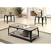 Amazoncom 3 PieceCoffee TablesTables HomeKitchen