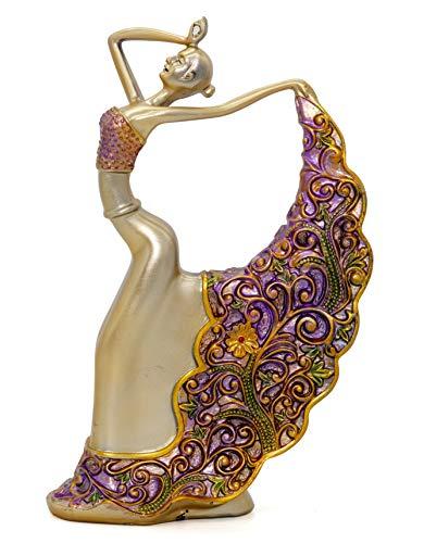 - NEWQZ Resin Ballerina Dancer Figurine for Home Decor,House Improvement Ornaments Decorative Statues, Gift for Friends
