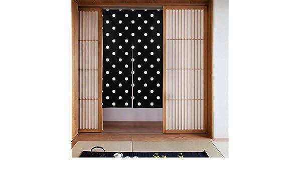 Nonebrand - Cortina de regaliz, diseño de lunares, color blanco y negro: Amazon.es: Hogar