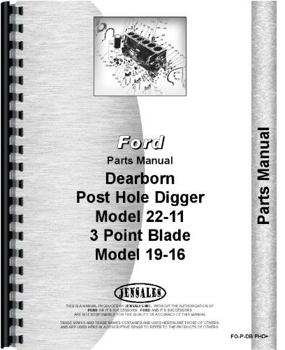 Dearborn 22-11 Post Hole Digger Parts Manual pdf epub