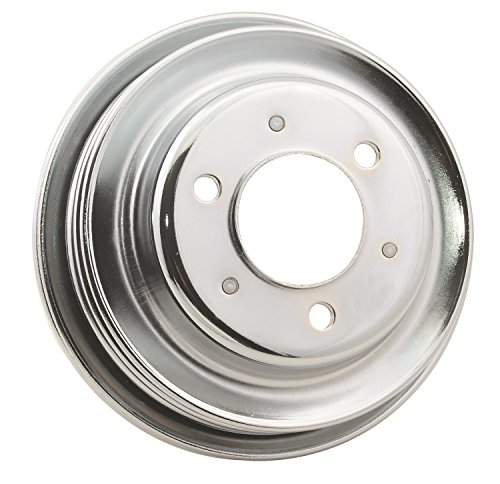 MR Gasket 4961G Chrome Triple Groove Pulley for 396-454 BBC