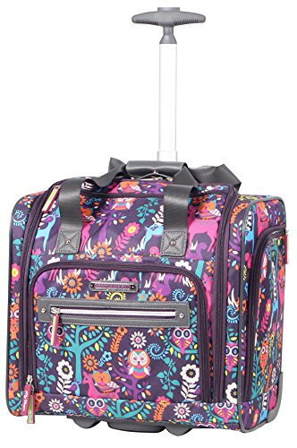 Lily Bloom Under the Seat Design Pattern Carry on Bag With Wheels (15in, Wildwoods)