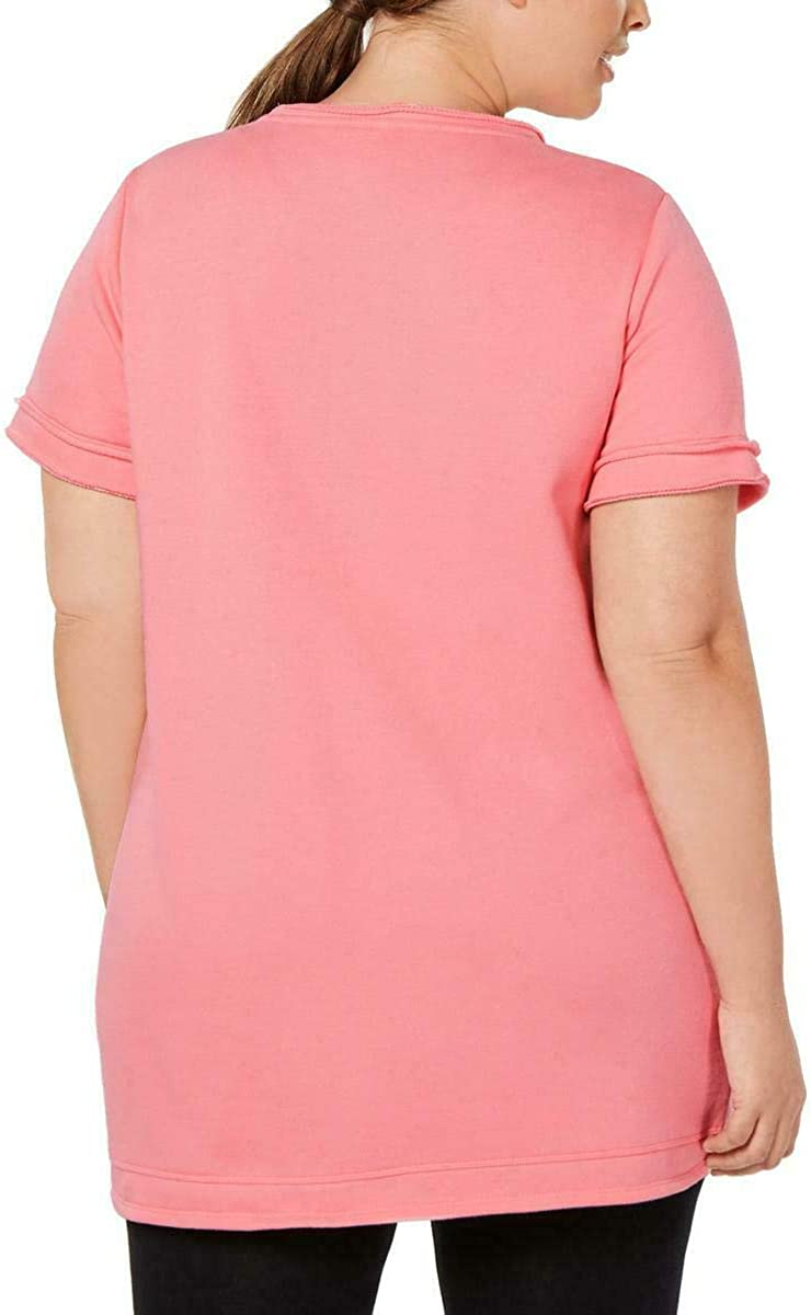 Ideology Womens Plus Fitness Workout Tunic Top