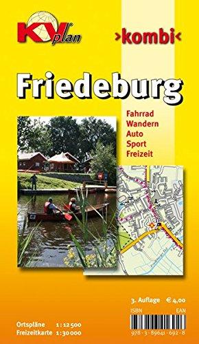 Friedeburg: 1:12.500 Gemeindeplan mit Freizeitkarte 1:25.000 incl. aller Radrouten und Wanderwege (KVplan Ostfriesland-Region)