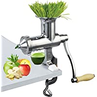 Happybuy Wheatgrass Juicer Manual Wheatgrass Juicer Stainless Steel Wheatgrass Extractor Leafy Green Juicer DIY Extractor Tool