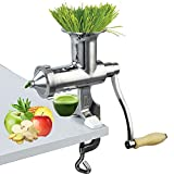 Happybuy Wheatgrass Extractor Portable Wheatgrass Juicer with 3 Sieves Wheatgrass Juicers Manual Stainless Steel Wheatgrass Extractor Machine for...