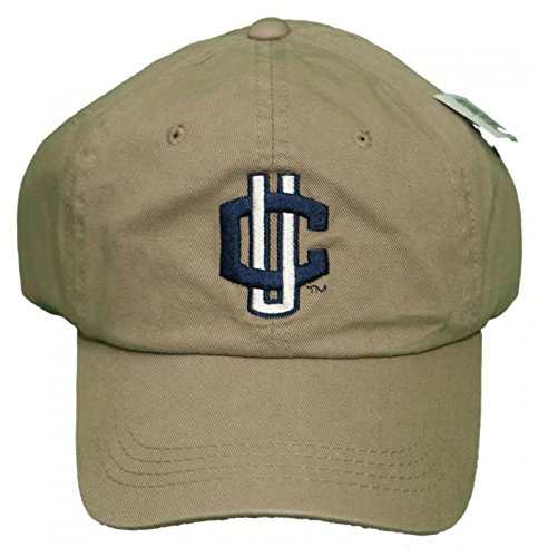 (NEW!! Connecticut Huskies Adjustable Buckle Back Embroidered Cap - Khaki - UCONN)