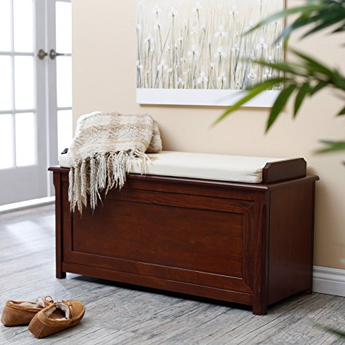 (Cedar Chest Mission Bench with Cushion - Cherry)