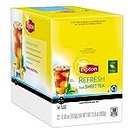 Lipton k-cups, indulge black tea vanilla 24 ct 14 100% natural 150mg of heart-healthy flavonoids (per 8 fl oz serving) 55mg caffeine (per 8 fl oz serving)