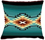 Pure Country Weavers Aydin Textured Hand Finished Elegant Woven Throw Pillow Cover 100% Cotton Made in The USA Size 17x17