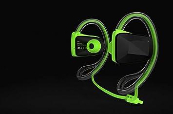 Hzhy Auriculares Bluetooth Deportes inalámbricos Bluetooth 4.1 Auriculares Suspensiones Impermeables Auriculares Deportivos (Color : Verde