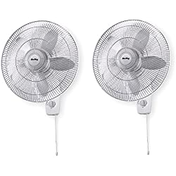 "Air King 18"" Blade 3-Speed 1/20 HP Quiet Oscillating Wall-Mount Fan (2 Pack)"