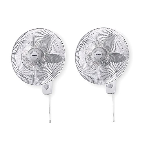 "Air King 18"" Blade 3-Speed 1/20 HP Quiet Oscillating Wall-Mount Fan (2 Pack)"