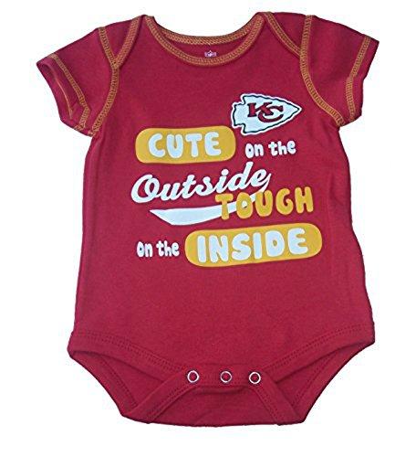 注目ブランド Kansas City City ChiefsキュートTough外側内側Infant Onesieサイズ3 – 6ヶ月ボディースーツ – – レッド –/ゴールド B0725C17P9, VALUE BOOKS:a496f3e0 --- a0267596.xsph.ru