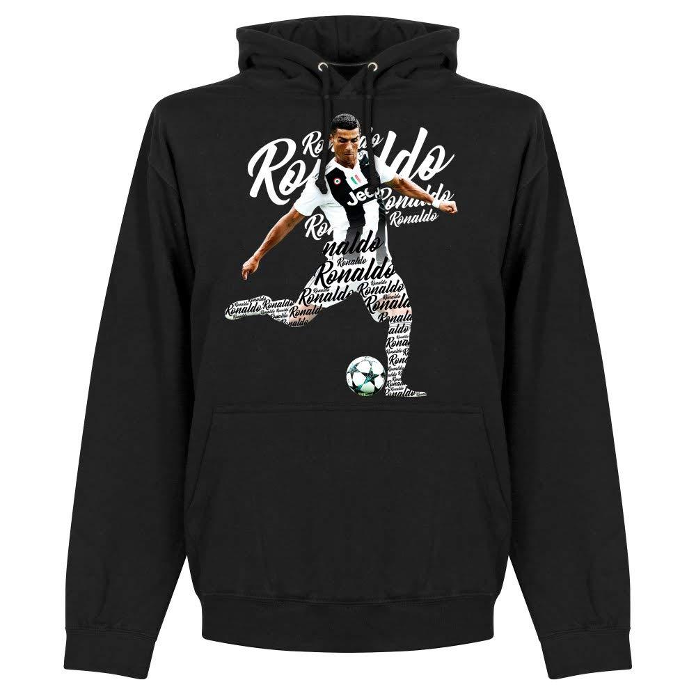 Ronaldo 7 Script Kapuzenpullover - schwarz B07HVXC1QV T-Shirts Schnäppchen