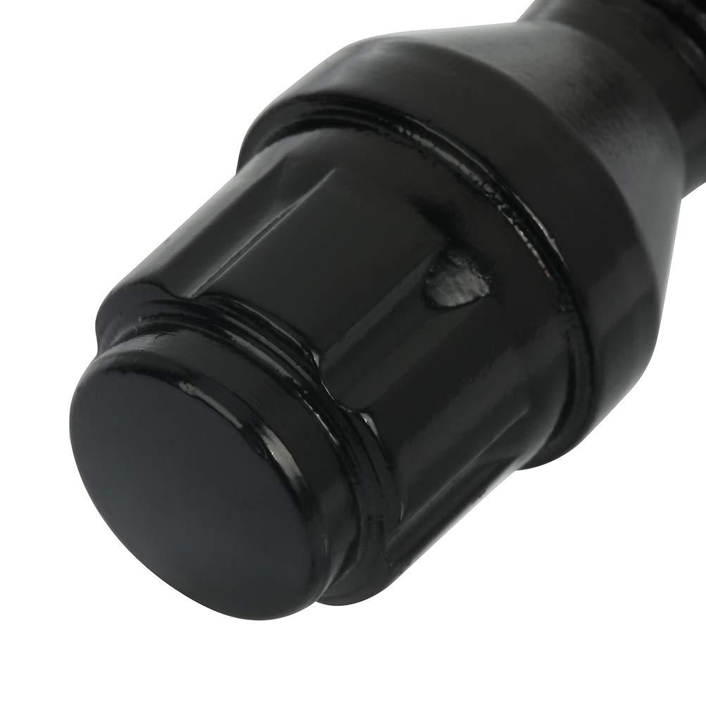 ECCPP Wheel Bolts 12x1.5 Lug Nuts 10x with 1 Key Black Wheel Locking Lug Nuts Shank 40mm fits for Audi Mercedes VW