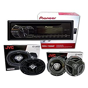 "Pioneer DEH-150MP+ 1 pair JVC CS-V628 6.5"" 2-way + 1 pair JVC CS-J6930 6x9 3-way(Package)"
