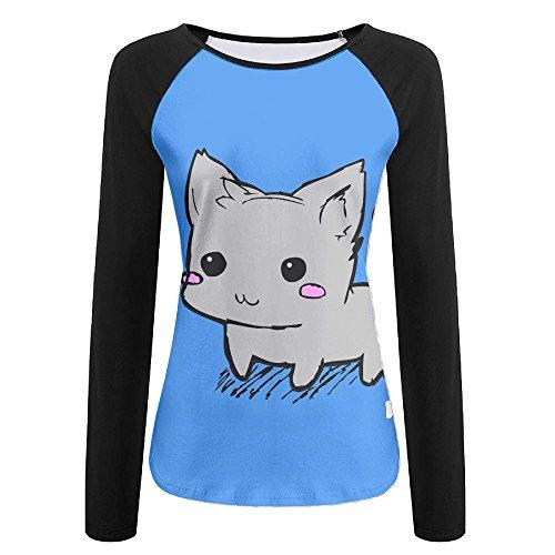 Kitten Long Sleeved T-shirt (XYLUCKY Cute Kitten 3D Women Creative Print Graphic Tee Long Sleeve T-Shirt Long-Sleeved Size M)