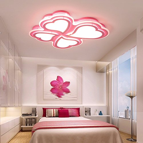 XQK Modern Ceiling romantic romantic heart-shaped children\'s girls ...