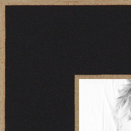 ArtToFrames 14x34 inch Black Satin with Raw Edges Picture Frame, 2WOM0066-76808-890R-14x34 - Edge Photo