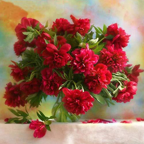 (GloryMM Flower Vase Diamond Painting Mosaic Cross Stitch Embroidery Kit for Home Wall Decoration,Vase Landscape)