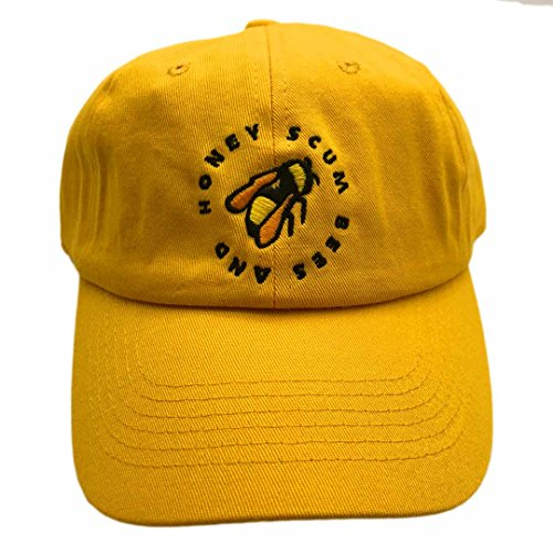 Chen Golf Wang Baseball Cap Bee Embroidered Dad Hats Adjustable Snapback Cotton Hat Unisex Yellow by chen guoqiang (Image #3)