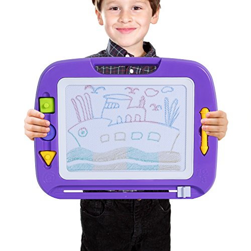 Erasable Slate (Big Non-toxic Magna Doodle Sketch Board Drawing Tablet Toy, Magnetic Colorful Erasable Drawing Board for Toddler Kids Birthday Gift Skill Development)