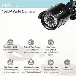 Wansview Outdoor 1080P WiFi Wireless IP Security Bullet Camera ,IP66 Weatherproof, Night VisionW2-Black