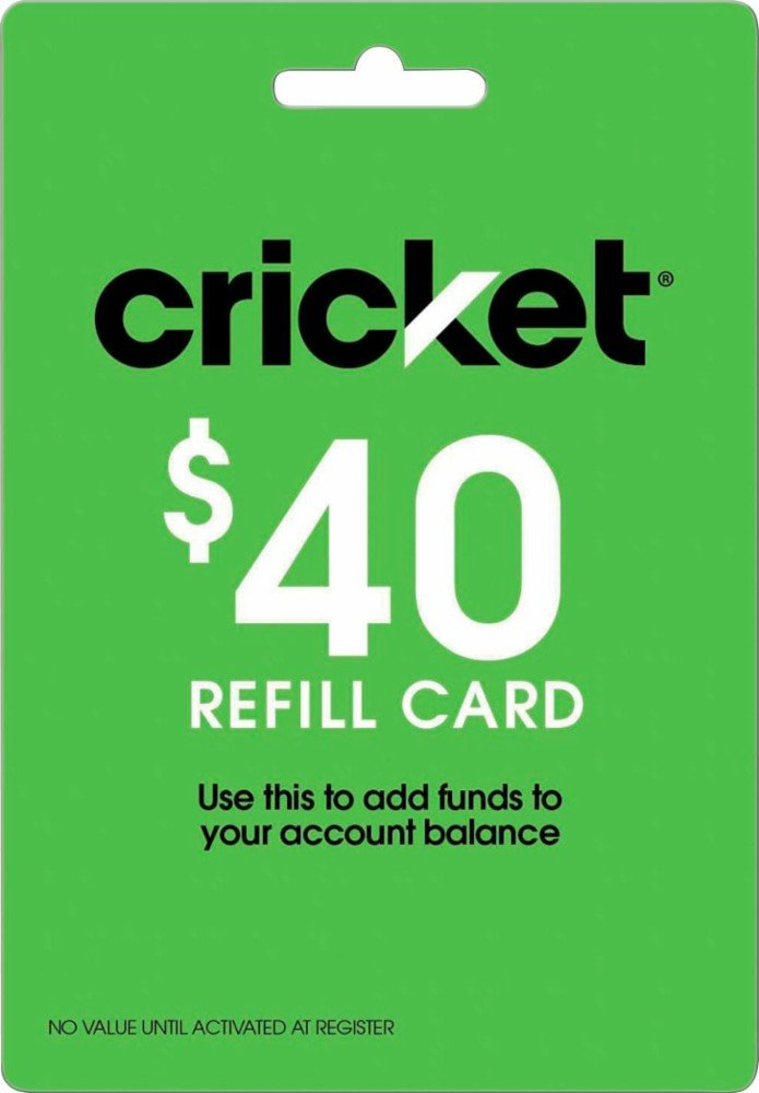 Cricket Wireless - $40 Refill Card