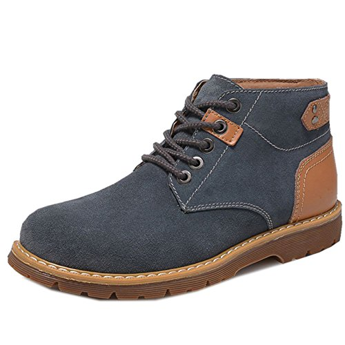 Lace Winter Boots Gray Shoes TAOFFEN Up Chukka Men's Rq1twCF