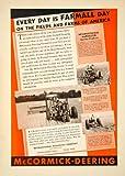1938 Ad International Harvester Farmall Tractor 180 N Michigan Avenue Chicago IL - Original Print Ad