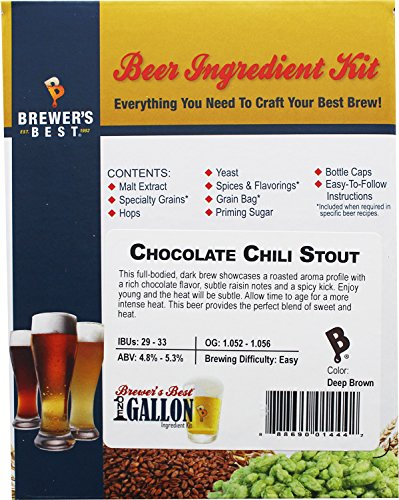 Home Brew Ohio HOZQ8-1048 Best Chocolate Chili Stout One gal Beer Ingredient Kit, Multi