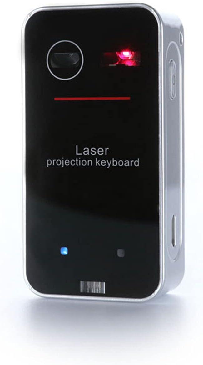 Nye Proyector de Teclado Bluetooth, Teclado de proyección Virtual inalámbrica, reconocimiento Compacto y portátil, multipunto, más Conveniente con función de Gesto, Negro